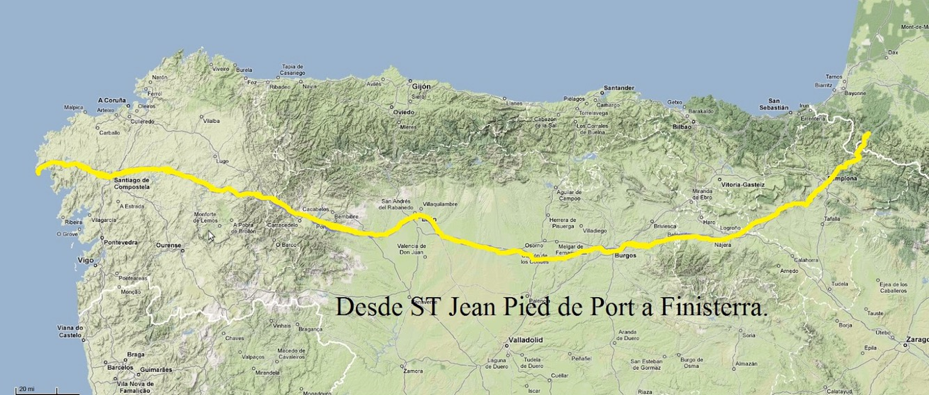 517 miles of a pilgrimage route from saint jean pied de - How to get to saint jean pied de port ...
